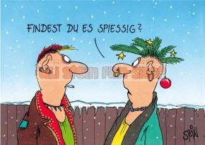 Klappkarte Weihnachten / Findest Du es spießig?