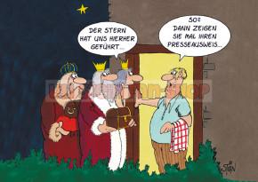 Klappkarte Weihnachten / Presseausweis