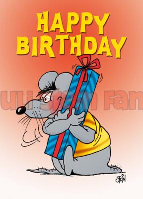 Klappkarte Happy Birthday, Paket