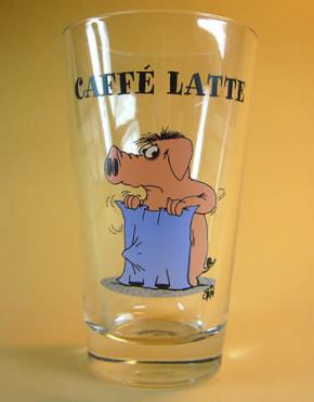 Uli Stein Cafe Latte Glas / Lattenschwein