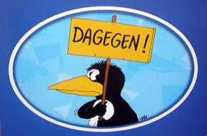 Aufkleber Postkarte / Dagegen