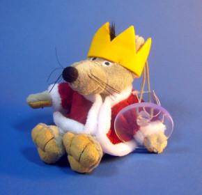 Plüsch Maus König 12cm am Bändchen mit Sauger