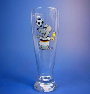 Uli Stein Weizenbierglas 0,5l, Fussball Maus
