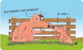 Uli Stein Brettchen Alle Männer sind Schweine