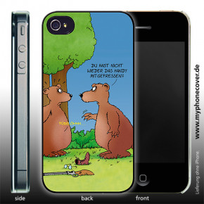 iPhone 5 Cover Handy mitgefressen