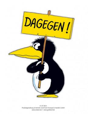 Aufkleber / DAGEGEN