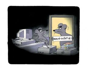 "Uli Stein Mousepad """"ab-insBett.de"