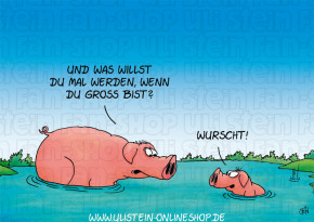 Postkarte / Wurscht