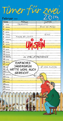 Uli Stein Timer für Zwei Kalender 2019