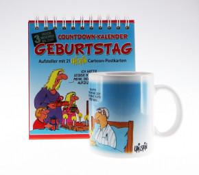 Uli Stein  Countdown Kalender Set Geburtstag, Kalender + Becher