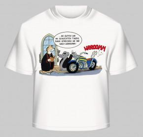 """Uli Stein T-Shirt weiss """"Wrroomm"""" Motorrad Größe: S"""
