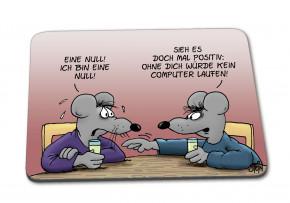 Uli Stein Mousepad Ich bin eine Null