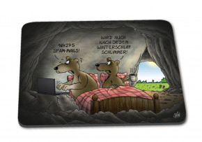 Uli Stein Mousepad Winterschlaf